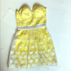 Bebe yellow summer dress